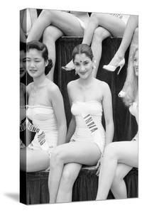1st Miss Universe Contest, Miss Hong Kong Judy Dan and Miss India Indrani Rahman, CA, 1952 by George Silk