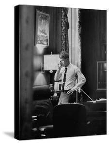 Attorney General Robert F. Kennedy, Talking on the Telephone in His Office by George Silk