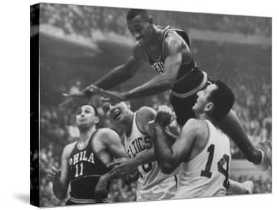 Basketball Player Wilt Chamberlain in Game Against the Celtics