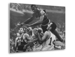Basketball Player Wilt Chamberlain in Game Against the Celtics by George Silk