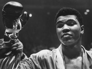 Cassius Clay After Defeating Doug Jones in Close Heavyweight Bout, in Madison Square Garden by George Silk