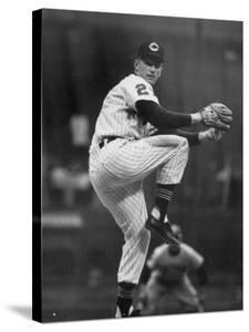 Cleveland Indians Herb Score Winding Up to Throw the Ball by George Silk