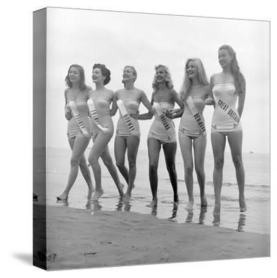 First Miss Universe Contest Contestants Wearing Bathing Suits, Long Beach, CA, 1952