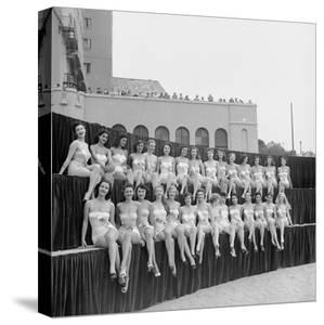 First Miss Universe Contest, Long Beach, CA, 1952 by George Silk