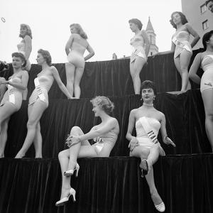 First Miss Universe Contest, Miss France and Miss Israel, Long Beach, California 1952 by George Silk