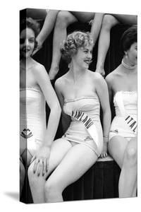 First Miss Universe Contest. Miss France and Miss Israel. Long Beach, California 1952 by George Silk