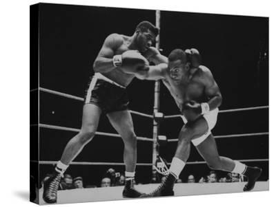 Floyd Patterson, and Sonny Liston During Championship Fight in Won by Liston in 1 1/2 Minutes