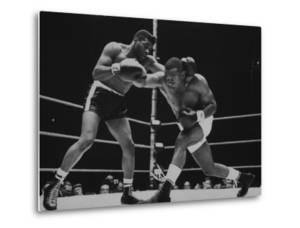 Floyd Patterson, and Sonny Liston During Championship Fight in Won by Liston in 1 1/2 Minutes by George Silk
