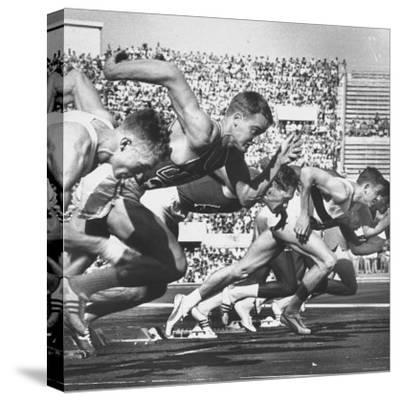 German Armin Harry During Men's 100 Meter Dash Event in Olympics