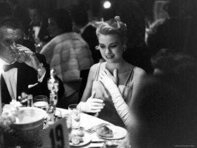 Grace Kelly Sitting at Romanoff's