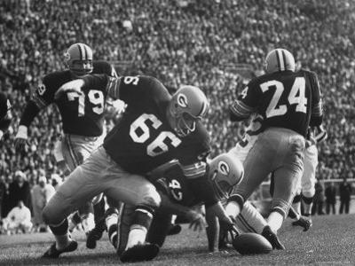 Green Bay Packers Playing a Game by George Silk