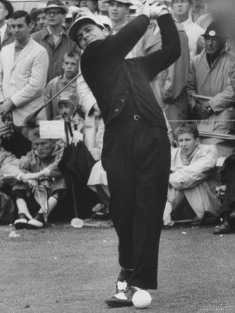 Masters Golf Tournament Winner Gary Player, Teeing Off