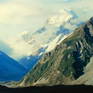 New Zealandsnow-Capped Mountain in New Zealand by George Silk