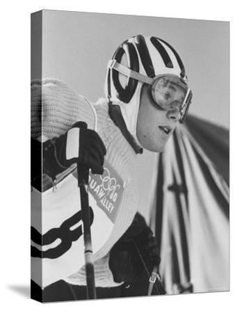 Skier, Heidi Biebl During the Winter Olympics