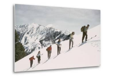 Skiers on the Slopes of Sun Valley Ski Resort, Idaho, April 22, 1947