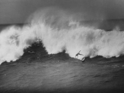 Surfer Fred Van Dyke Riding Giant Wave