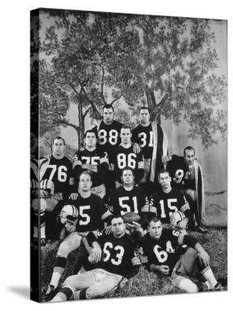 The Green Bay Packers, the 1961 NFL Champions, Posing for a Team Picture
