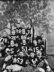 The Green Bay Packers, the 1961 NFL Champions, Posing for a Team Picture by George Silk