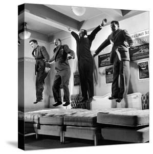 The Salesmen Showing How Not to Test a Bed at Lewis and Conger by George Silk
