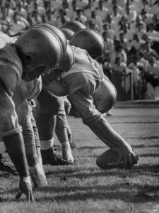 UCLA Football Line Shown in UCLA vs. Stanford Game by George Silk