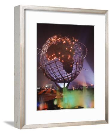 Unisphere Globe Illuminated in Darkness of World's Fair
