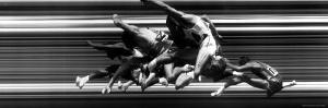 US Trackmen Taking Hurdles at Olympic Tryouts by George Silk