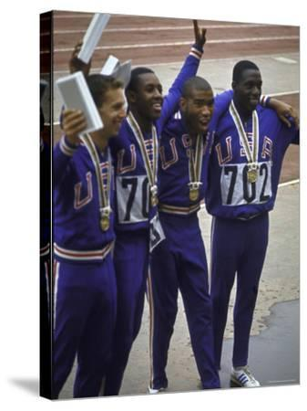 US Winning Team for the 4 X 100 Meter Relay at the Summer Olympics