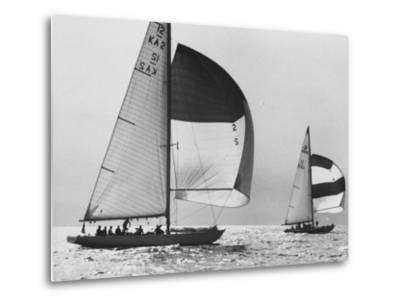 View of Sailboats During the America's Cup Trials