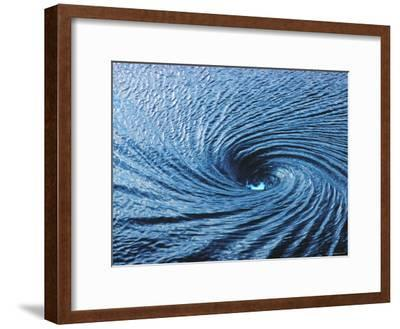 Whirlpool, a Fathom Across at Spinning Vortex, Caused by Converging Tides and Currents in Gulf