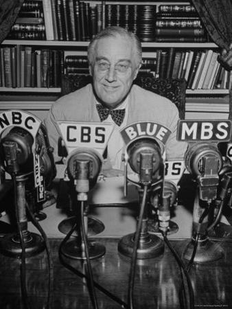 President Franklin D. Roosevelt, Broadcasting a Speech over the Radio from the White House