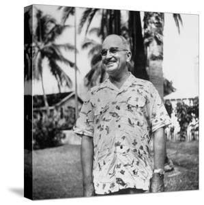President Harry S. Truman, Arriving in Key West Wearing Hawaiian Shirt by George Skadding