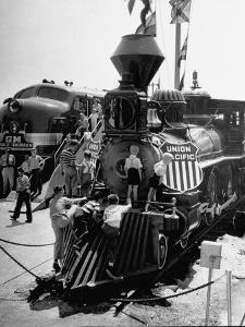 The Union Pacific No. 18 built in 1874 displayed at the Chicago Railroad Fair by George Skadding
