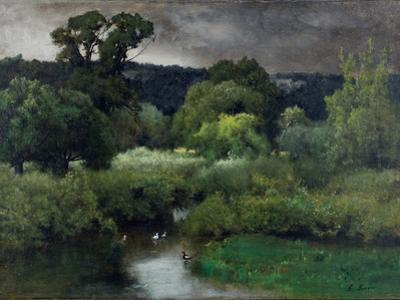 A Grey Lowery Day, 1877 by George Snr. Inness