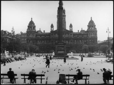 George Square, Glasgow--Photographic Print