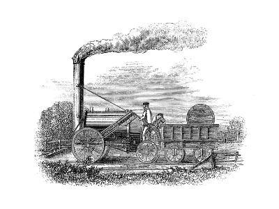 George Stephenson's Locomotive Rocket, 1829--Giclee Print