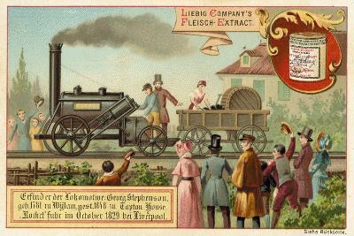 George Stephenson's Steam Locomotive Rocket, Liverpool, 1829--Giclee Print