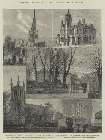 George Stephenson, the Father of Railways-Charles Auguste Loye-Giclee Print
