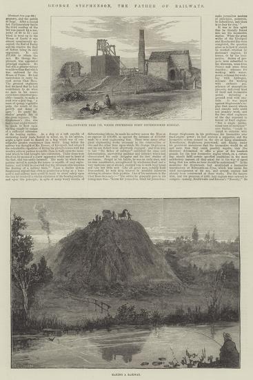George Stephenson, the Father of Railways-William Heysham Overend-Giclee Print