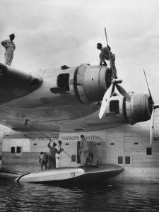 Pan Am Clipper Seaplane by George Strock