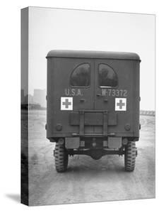 Rear View of Ambulance by George Strock