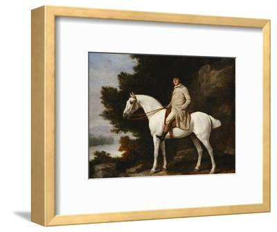 A Gentleman on a Grey Horse in a Rocky Wooded Landscape, 1781