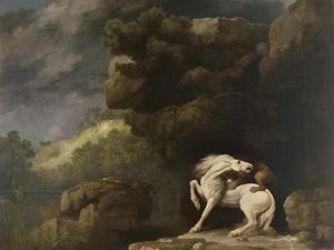 A Lion Attacking a Horse, 1770 by George Stubbs