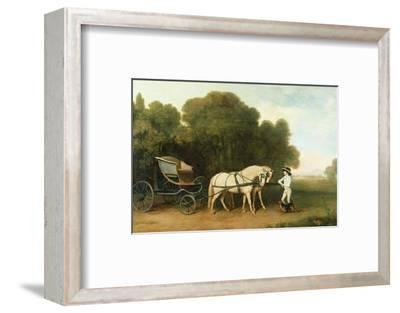 A Phaeton with a Pair of Cream Ponies in the Charge of a Stable-Lad, C.1780-5 (Oil on Panel)