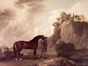 """Cato"" and Groom by George Stubbs"