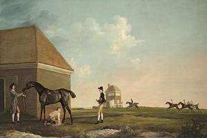 Gimcrack on Newmarket Heath with a Trainer, a Jockey and a Stable Lad by George Stubbs