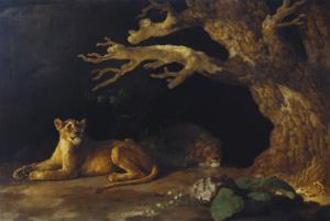 Lioness and Cave by George Stubbs