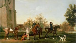 Lord Torrington's Hunt Servants Setting Out from Southill, Bedfordshire, c.1765-8 by George Stubbs