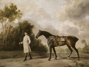 Portrait d'Assheton, 1er Vicomte Curzon, avec sa jument Maria by George Stubbs