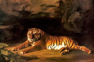 Portrait of the Royal Tiger by George Stubbs