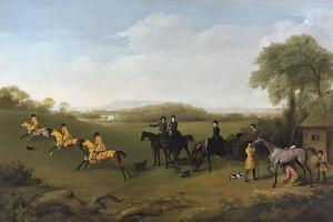 Racehorses Exercising at Goodwood by George Stubbs